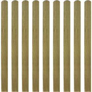 Lattes imprégnées de clôture 10 pcs Bois FSC 120 cm