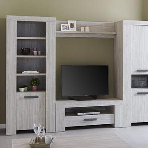 Ensemble meuble TV couleur chêne gris contemporain SUZON 2