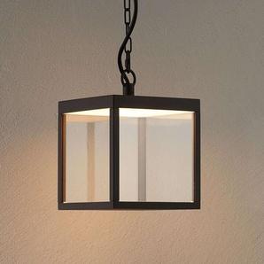 Suspension extérieure LED Cube, verre, 18 cm