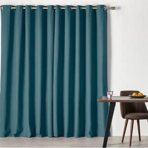 Solar, une paire de rideaux à œillets 168 x 182 cm, bleu canard