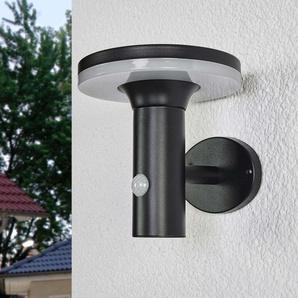 Lampe solaire LED noire Eliano, capteur