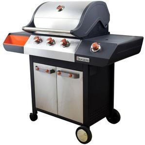 BRASERO - Barbecue Emma à gaz Inox 3 Feux + 1 brûleur latéral - 11,95 Kw