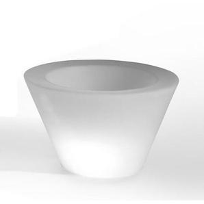 X-POT LIGHT-Pot lumineux dexterieur H50cm et Ø80cm Blanc Slide