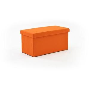Cuba - Pouf Coffre Pliant Orange