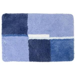 Differnz Cubes Tapis de bain 90x60cm bleu