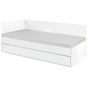 Lit pouvant faire office de canapé, avec tiroir de rangement - Blanc
