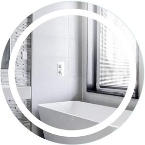 Miroir de Maquillage Miroir Rond Mural + Éclairage LED et Interrupteur Tactile 80*80*4.5cm - JEOBEST