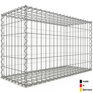 Gabion 100x60x40cm « made in Germany » - mailles rectangulaires 5x10cm - GABIONDECO