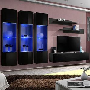 Ensemble meuble TV noir design NOVOLI