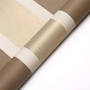 Rayures horizontales et verticales simples modernes estampage à chaud papier peint intissé non tissé salon brun salle à manger télévision fond décran (Color : Dark brown)