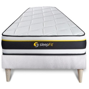 Ensemble 90x200 matelas SOFT + sommier kit blanc - SLEEPFIT