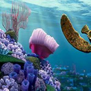 1art1® Le Monde De Nemo Poster Papier Peint - Nemo, Dorie Et Crush (202 x 90 cm)