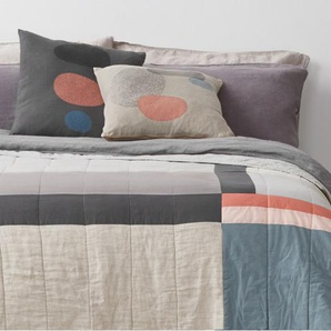 Elmin, couvre-lit en patchwork 225x200 cm, multicolore