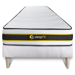 Ensemble 90x200 matelas FLEXY + sommier kit blanc - SLEEPFIT