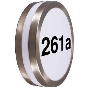 Applique dextérieur en acier inoxydable avec numéro de maison IP44 - Leeds Qazqa Moderne Luminaire exterieur IP44 Rond