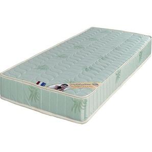 Luxe Matelas 80x190 Trés Ferme Mousse Poli Lattex Indéformable - Face Laine Merinos 100% -Tissu à lAloé Vera - 19 cm - KING OF DREAMS