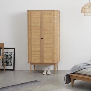 Liana, armoire 2 portes, frêne et rotin - Armoires - Meubles