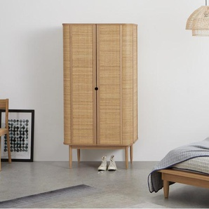 Liana, armoire 2 portes, frêne et rotin