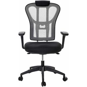 Chaise de Bureau Pivotant, Fauteuil Ergonomique en Maille Respirant, avec Accoudoirs Réglables 3D, Adaptable aux personnes de Forte Corpulence, OBN64BG - SONGMICS