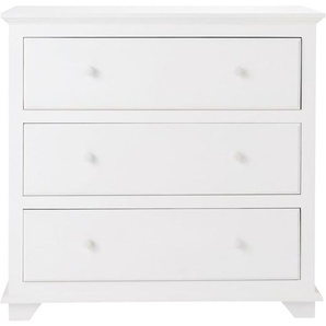 Commode 3 tiroirs blanche Pastel