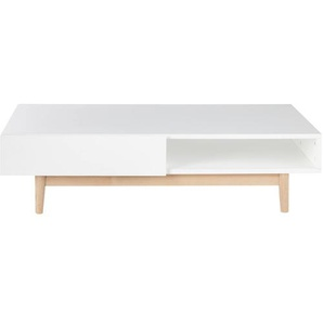 Table basse style scandinave 2 tiroirs blanche Artic