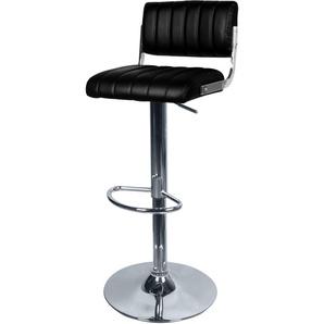 Chaise de bar Houston noire 65/87 cm - RENDEZ VOUS DéCO