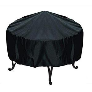 Mitef Housse de Foyer Ronde en Tissu Oxford imperméable Noir D29.9xH11.8inches/76x30cm Noir