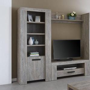 Ensemble meuble TV couleur chêne vieilli SUZON