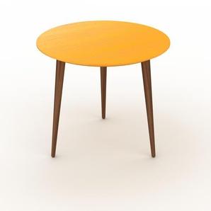 Table basse - jaune, ronde, design scandinave, petite table pour salon élégante - 50 x 44 x 50 cm, personnalisable
