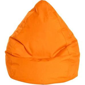 Pouf Poire Brava orange XL - SITTING POINT