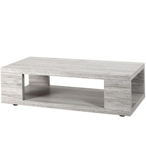 Table basse contemporaine couleur chêne gris LADY