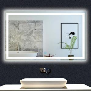 OCEAN Miroir de salle de bain 110x80cm anti-buée miroir mural avec éclairage LED modèle Carré - OCEAN SANITAIRE