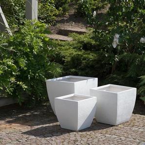 Cache-pot blanc 46 x 46 x 44 cm ORICOS
