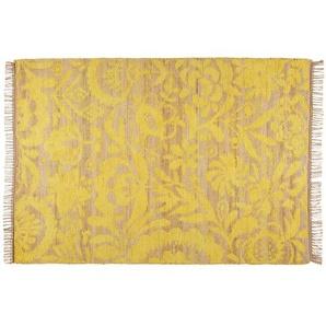 Tapis en jute et coton jaune moutarde 140x200cm LUKILA