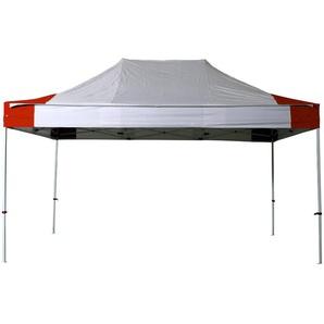 Tente pliante tonnelle 3x4,5 M Acier 32mm Bâche 300g/m² Tonnelle pliante Chapiteau Barnum Blanc et Rouge - INTEROUGE
