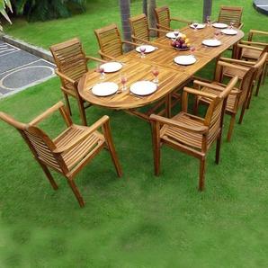 Salon de jardin en Teck huilé XXL : Sumatra Raja table teck