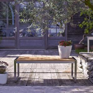 Banc de jardin en bois de teck et inox Arno