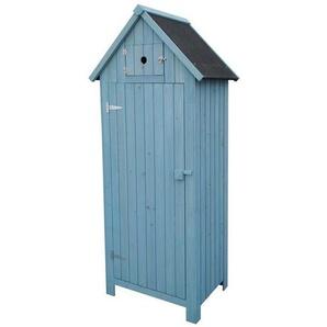 Armoire de jardin Cabanon - 77 x 54.5 x 179 cm - Bleu ciel - HABITAT ET JARDIN