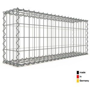 Gabion 100x40x20cm « made in Germany » - mailles rectangulaires 5x10cm - GABIONDECO
