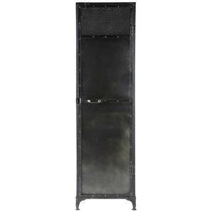 Dressing en métal noir effet vieilli L 55 cm Edison