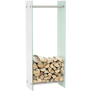 Porte-bûches Dacio verre blanc 35x80x100 cm - BAUWERK MANUFACTURE