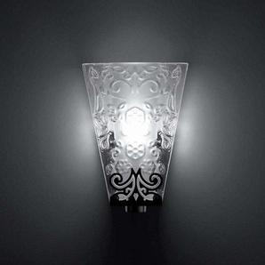 VICKY-Applique Cristal L10cm Transparent Fabbian - designé par Nicola Gardin & Roger Zanon