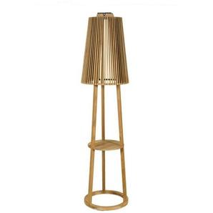 TINKA TECKA-Lampadaire dextérieur LED rechargeable & solaire Bois H182cm teck  Les Jardins