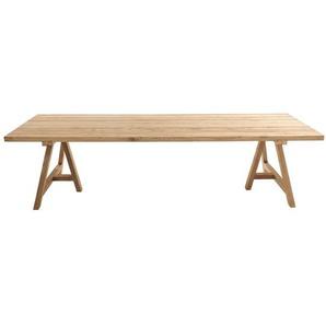 Table de jardin en teck recyclé 12/14 personnes L300 Tecka