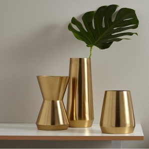 Beaumont, grand vase cylindrique, doré