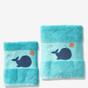 Serviette de bain Baleine turquoise