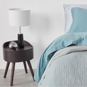 Elda, couvre-lit 100% coton lavé, 150 x 200 cm, bleu ardoise