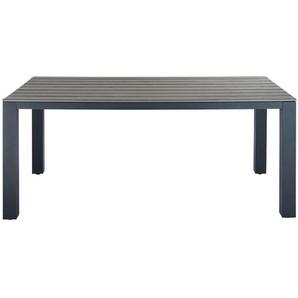Table de jardin en aluminium gris Escale