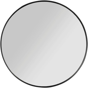 Miroir rond en bois noir D50cm