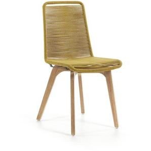 Kave Home - Chaise Narava moutarde